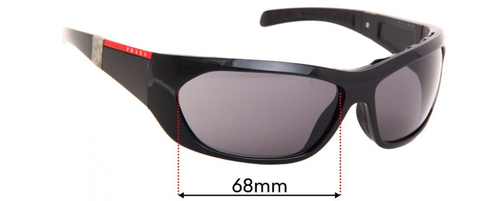 Prada SPS04H Replacement Sunglass Lenses - 68mm wide