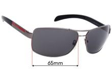 Prada SPS54I Replacement Sunglass Lenses - 65mm wide
