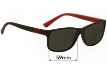 Sunglass Fix Replacement Lenses for Ralph Lauren PH4109 - 59mm wide