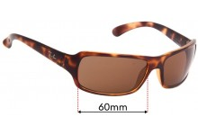 Ray Ban RB4075 Replacement Sunglass Lenses - 61mm Wide
