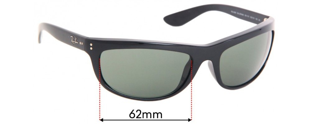 Ray Ban RB4089 Baloramas Replacement Sunglass Lenses - 62mm Wide