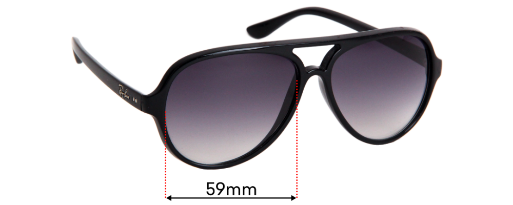 Sunglass Fix Replacement Lenses for Ray Ban RB4125 Cats 5000 - 59mm Wide