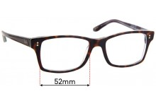 Sunglass Fix Replacement Lenses for Ray Ban RB5225 - 52mm Wide