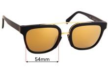 Retro Super Future Akin Replacement Sunglass Lenses - 54mm wide