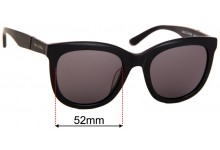 Sunglass Fix Replacement Lenses for Sass & Bide Sukha Jam - 52mm Wide