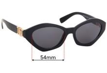 Versace MOD 4334 Replacement Sunglass Lenses - 54mm Wide