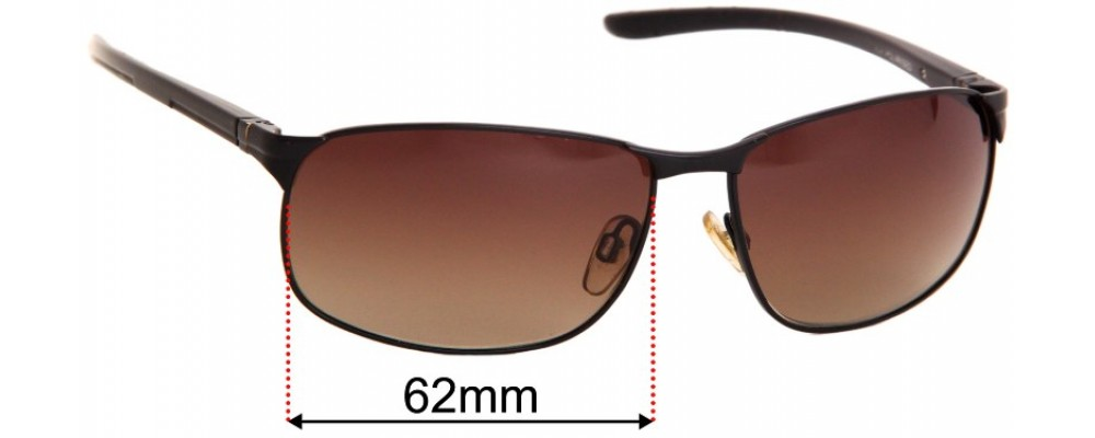 Sunglass Fix Replacement Lenses for Cancer Council Botany - 62mm Wide