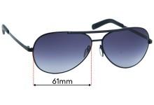 Dolce & Gabbana DG2141 Replacement Sunglass Lenses - 61mm wide