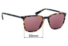 Sunglass Fix Replacement Lenses for Dolce & Gabbana DG4301 - 53mm wide