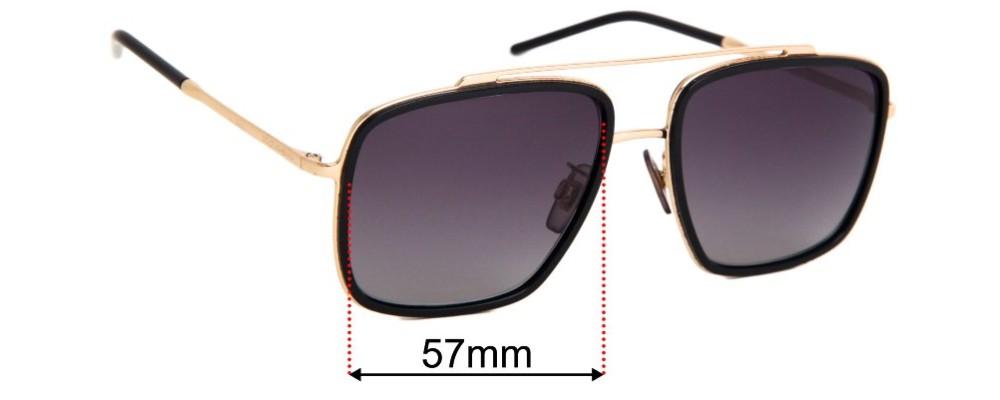 Dolce & Gabbana DG2220 Replacement Lenses 57mm
