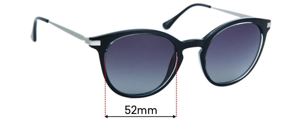 Esprit ET39023 Replacement Sunglass Lenses - 52mm Wide