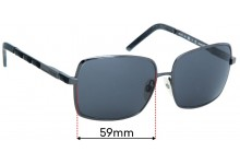 Sunglass Fix Replacement Lenses for Gianfranco Ferre GF911 - 59mm wide
