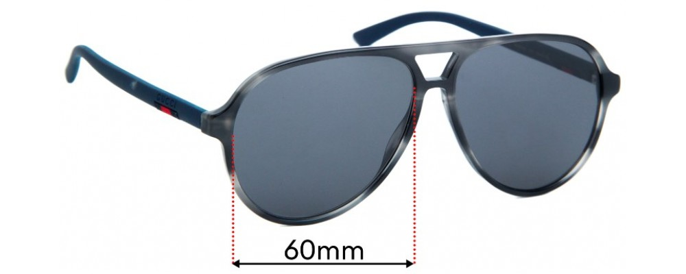 Gucci GG0423S Replacement Sunglass Lenses - 60mm