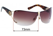 Sunglass Fix Replacement Lenses for Gucci GG2807S - 73mm wide