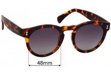 Sunglass Fix Replacement Lenses for Illesteva Leonard II - 48mm Wide