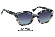 Luxottica 9164 RS Replacement Sunglass Lenses  - 51mm wide