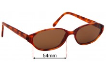 Sunglass Fix Replacement Lenses for Lifestyle PL-1332 - 54mm wide