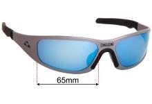 Liquid Eyewear Gasket Replacement Sunglass Lenses - 65mm Wide