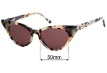 Sunglass Fix Replacement Lenses for Lu Goldie Brigitte - 50mm Wide