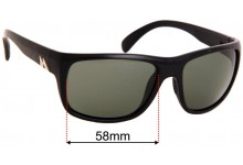 Mako Apex Replacement Sunglass Lenses - 58mm Wide
