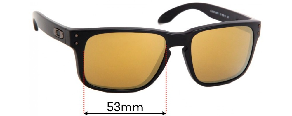 Sunglass Fix Replacement Lenses for Oakley Holbrook XS OJ9007 - 56mm Wide