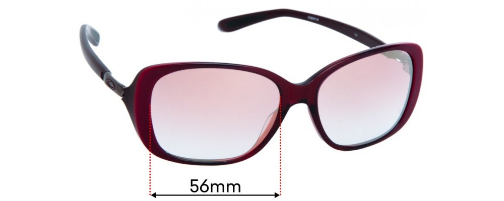 Oakley Top Spin OO2037 Replacement Sunglass Lenses - 56mm wide