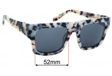 Sunglass Fix Replacement Lenses for Pared Bread and Butter - 52mm wide