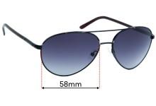Prada Aviator (Unknown Model) Replacement Sunglass Lenses - 58mm Wide