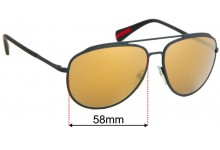 Prada PRZ Aviator Replacement Sunglass Lenses - 58mm wide