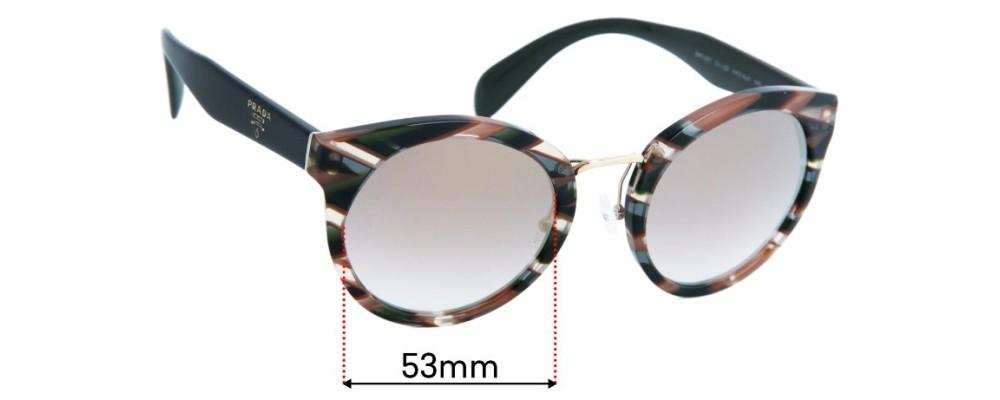 Prada SPR05T Replacement Lenses - 53mm