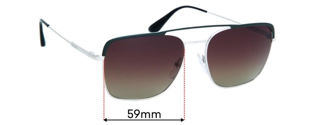 Prada SPR53V Replacement Sunglass Lenses - 59mm Wide