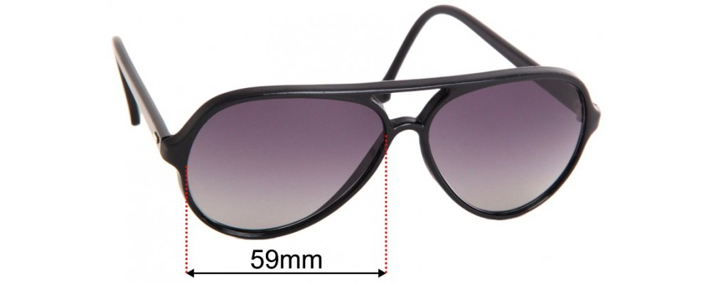 Sunglass Fix Replacement Lenses for Ray Ban BL W0325 Cats - 59mm Wide