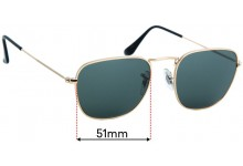 Ray Ban RB3857 Frank Replacement Lenses - 51mm