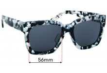 Sunglass Fix Replacement Lenses for Trelise Cooper Never Go Back - 56mm wide