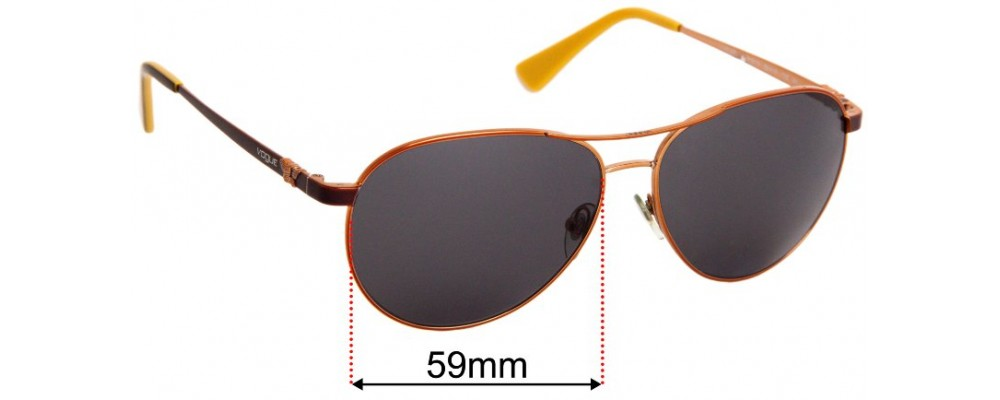 Vogue VO 3905-S Replacement Sunglass Lenses - 59mm Wide