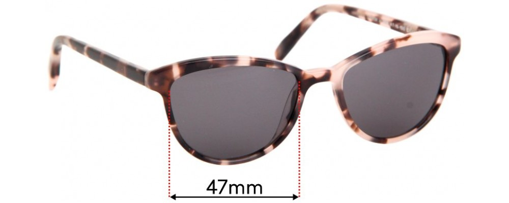 Warby Parker Louise JR. Replacement Sunglass Lenses - 47mm wide