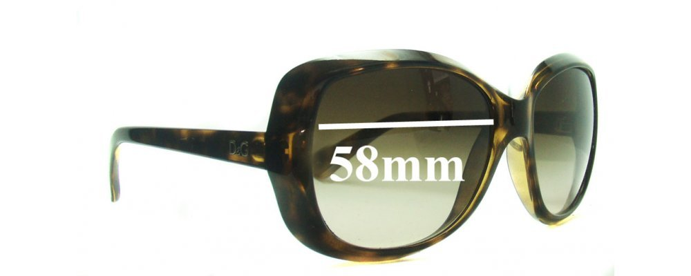 5f62f7f0 Sunglass Fix Replacement Lenses for Dolce & Gabbana DG8075 - 58mm Wide