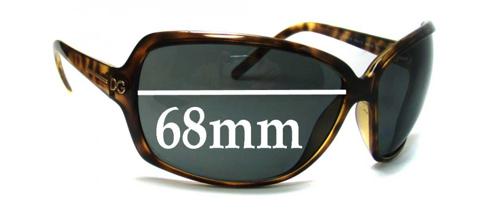Dolce & Gabbana DG6016 Replacement Sunglass Lenses - 68mm Wide