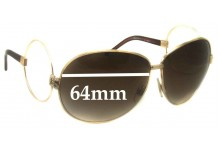 Dolce & Gabbana D&G DG2004-B Replacement Sunglass Lenses- 64mm Wide