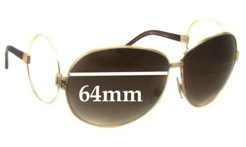 Dolce & Gabbana D&G DG2004-B Replacement Sunglass Lenses- 64mm Wide