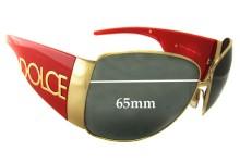 Dolce & Gabbana DG2014 Replacement Sunglass Lenses 65mm wide