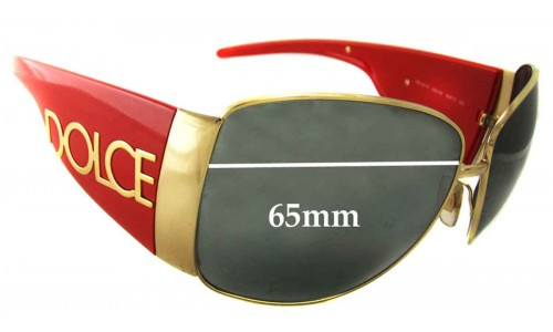 Sunglass Fix Replacement Lenses for Dolce & Gabbana DG2014 65mm wide
