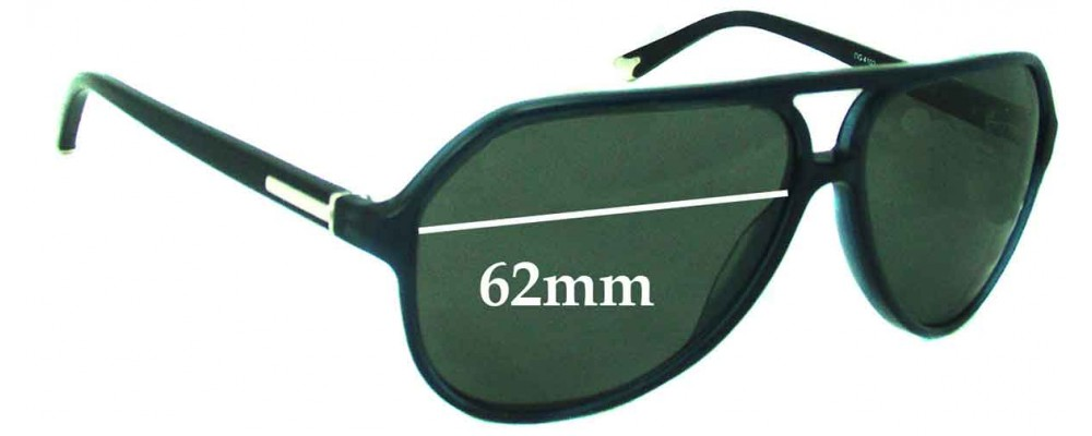 Dolce & Gabbana DG4102 Replacement Sunglass Lenses - 62mm wide