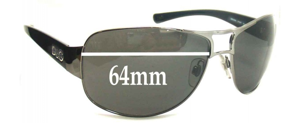 Dolce & Gabbana DG6056 Replacement Sunglass Lenses - 64mm Wide