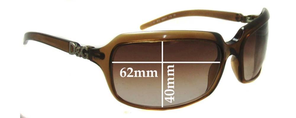 Sunglass Fix Replacement Lenses for Dolce & Gabbana DG2192 (2009 & Newer) - 62mm Wide