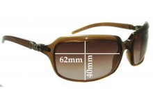 Sunglass Fix New Replacement Lenses for Dolce & Gabbana DG2192 (2009 & Newer) - 62mm Wide
