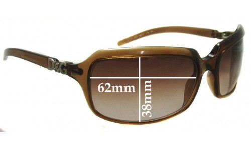 Dolce & Gabbana DG2192 Old Prior 2009 Replacement Sunglass Lenses - 62mm wide