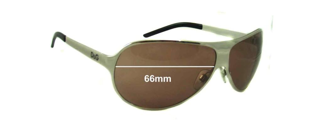 Dolce & Gabbana DG6025 Replacement Sunglass Lenses - 66mm wide