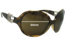 Dolce & Gabbana DG6030 Replacement Sunglass Lenses- 64mm Wide