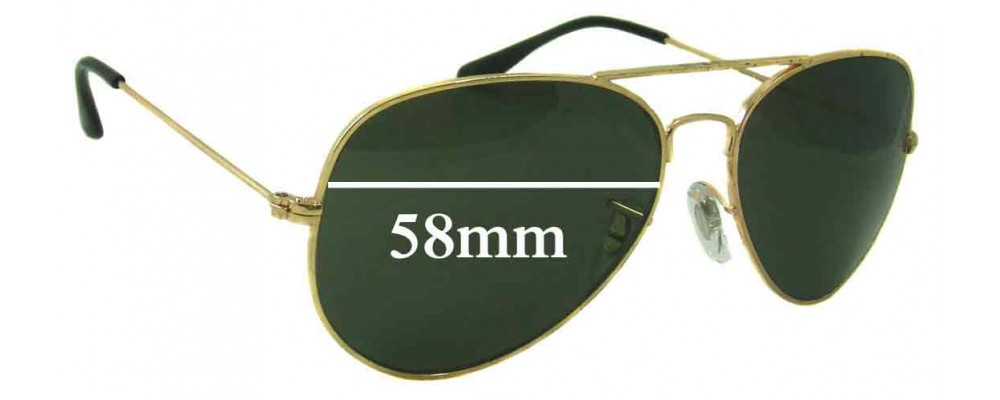 Sunglass Fix Replacement Lenses for Ray Ban RB3025L Bausch Lomb - 58mm wide